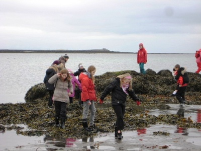 5.bekkur hjólaferð í Gróttu í apríl 2010