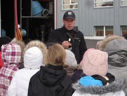 Slökkviliðið í heimsókn hjá 3. bekk í nóv. 2009